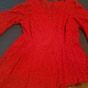 Lane bryant red skater dress
